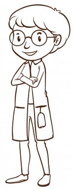 Skizze einer Ärztin